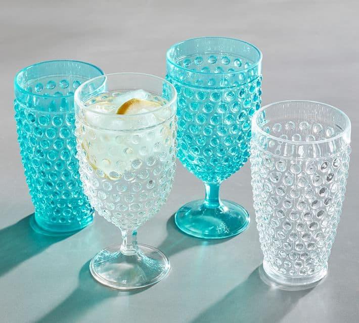 hobnail acrylic drinkware o