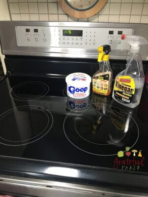 how clean induction stove top