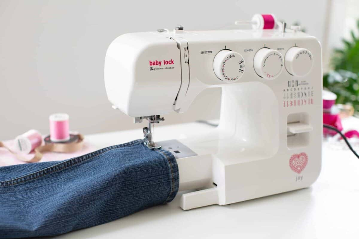 baby lock joy sewing machine free arm sewing scaled 1
