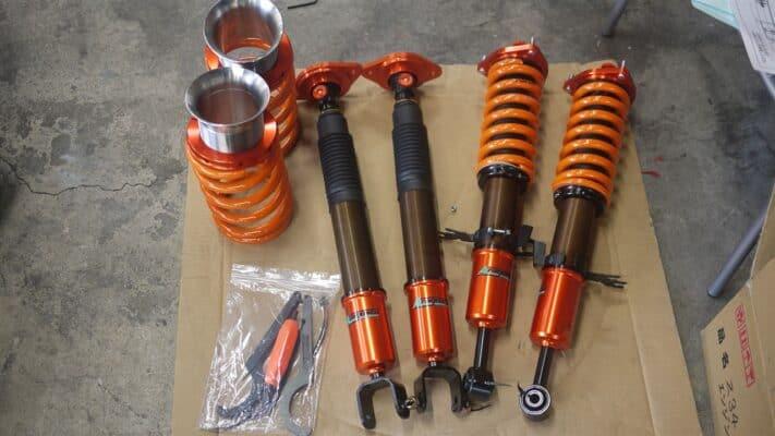 aragosta suspension kit type e coilovers with pillowball upper mounts for ckv36 infiniti g37 nissan skyline 370gt aragostag371 1.347