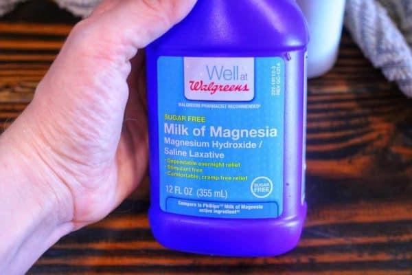 milk of magnesia without sodium hypochlorite
