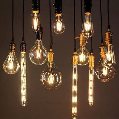 4PC LED Edison Bulb G45 G80 G95 ST64 A60 Vintage LED Lamp Filament Bulb E27 220V