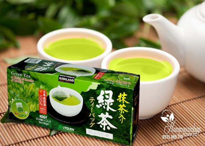 tra xanh tui loc kirkland green tea hop 100 goi cua my 1 min